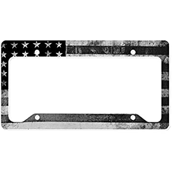 Amazon Com Airstrike American Flag Black License Plate