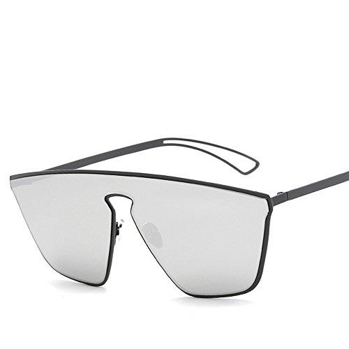 Doble Color Gafas Gafas Gafas WHLDK Acero De Matte Inoxidable Sol De De Moda White Box Sol Mercury Hombre Sol Frío De De Black vxFwqxz7