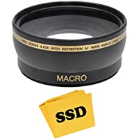 Socko 52MM 0.43X Wide Angle HD Lens with Macro for NIKON D5300 D5200 D5100 D5000 D3300 D3200 D3100 D3000 D7100 D7000 DSLR Cameras and SSD Microfiber Lens Cleaning Cloth