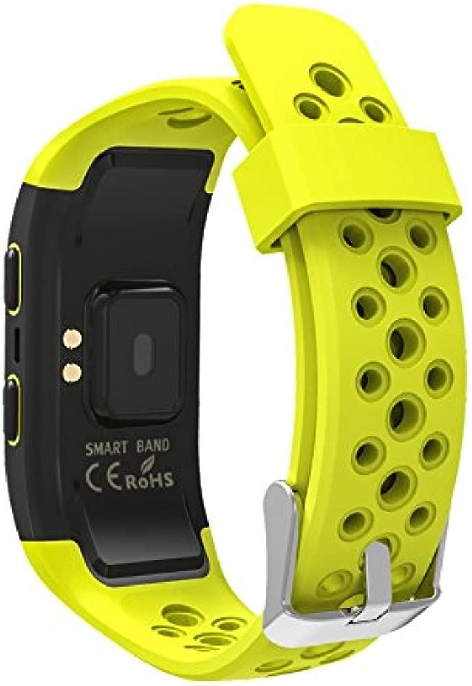 LEOTEC Pulsera de Actividad Training Band - Pulsera de Actividad,GPS Real, con Monitor de frecuencia Cardiaca en la muñeca, Monitor de ...