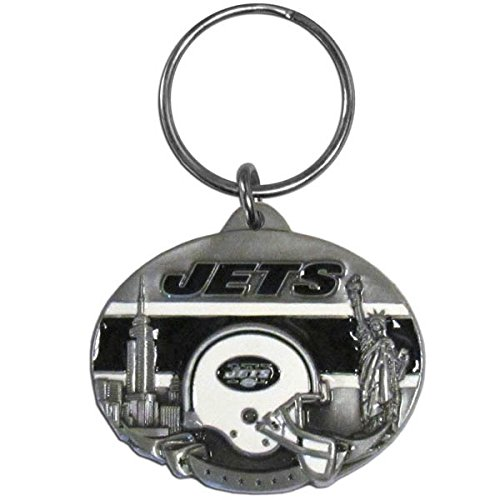 (Siskiyou NFL New York Jets Oval Carved Key Chain, Metal )