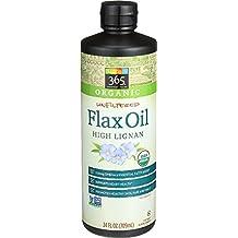365 Everyday Value Organic Unfiltered Flax Oil High Lignan, 24 fl oz