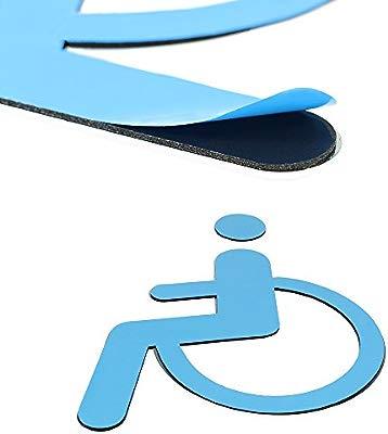 Tocone Adhesivo Acrílico Señales Baño Signo Discapacitado Minusvalidos Placa Puerta WC Señalización Aseos