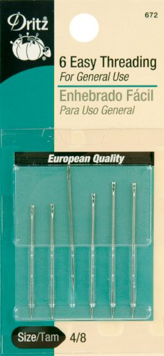 Easy Needle (Dritz 6-Piece Hand Needles Self Threading)