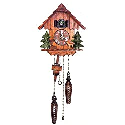 Quartz Movement Cuckoo Clock in Beautiful House Design 11 Inch