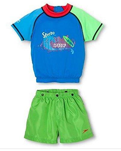 Speedo Kids' UV-Protective 2-Piece Flotation Suit (Blue, M/L, Ages (Speedo Flotation Suit)