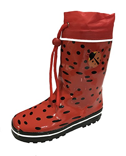 youth red rain boots - 7