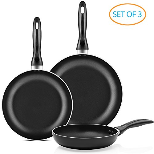 Chef's Star Professional Grade 3 Piece Non-stick Frying Pan Set - 8"