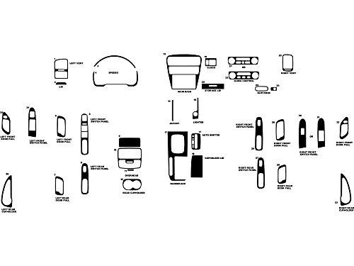 Rdash Dash Kit Decal Trim for Honda Accord 2001-2002 - Carbon Fiber 3D (Black) (Honda Accord Oem Carbon Fiber)