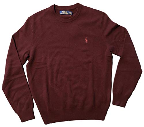 ns Crewneck Wool Sweater (M, Redwine) ()