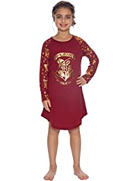 Girls Hogwarts Gold Crest Nightgown Pajama