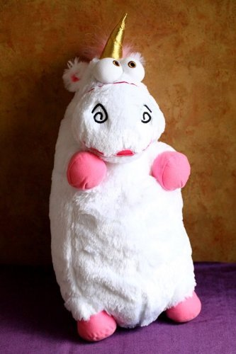3d Ride Agnes Fluffy Unicorn Pillow Plush Large 22