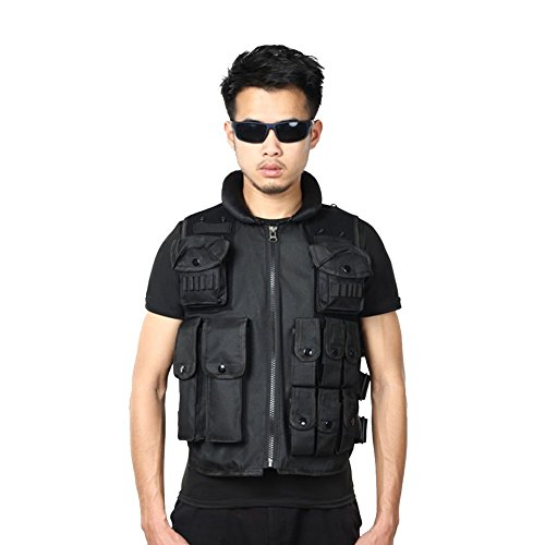 DANLIA Tactical Vest, Special Forces Multi-functional Combat Vest, Breathable CS Field Equipment by DANLIA