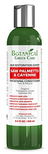 Saw Palmetto & Cayenne Hair Growth Anti-Hair Loss CONDITIONER. Alopecia Prevention and DHT Blocker. Doctor Developed. NEW 2019 FORMULA!