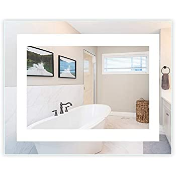 Amazon Com Led Front Lighted Bathroom Vanity Mirror 40