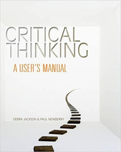 Critical Thinking Third Edition  Richard L Epstein  Carolyn