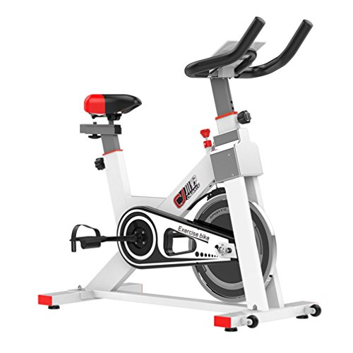 Stationary Exercise Bicycle Trainer Indoor Bike Cycling Cardio Health Home Workout Fitness Equipment (White) MandyLove