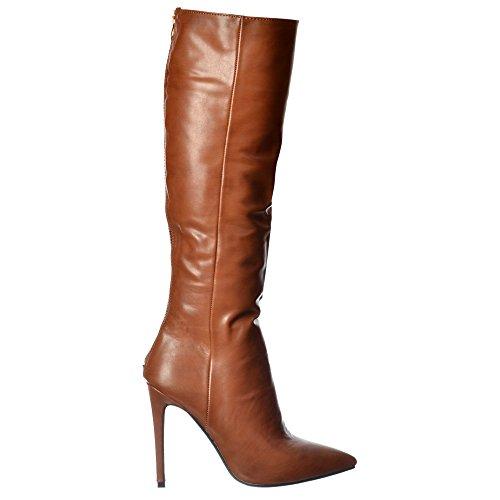 Di Alto Tacco Ginocchio A Toe Spillo Femminile Ladies Stivali Nero Punta Marrone Onlineshoe qCz6SCZExw