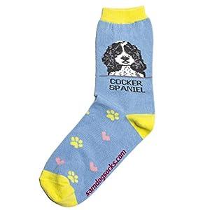 Cocker Spaniel Black Women Socks 17