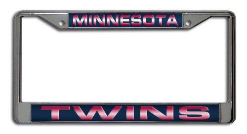 MLB Minnesota Twins Laser-Cut Chrome Auto License Plate Frame
