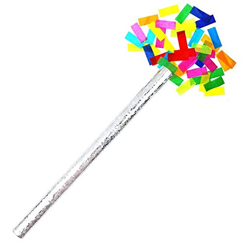Viki Liki New Confetti Sticks for Photoshoots, Competitions, Birthday,Wedding, Anniversary, Kids Parties, Baby Welcome, Gender Reveal Parties, Baby Shower - Set of 7 Confetti Sticks (Multicolored)