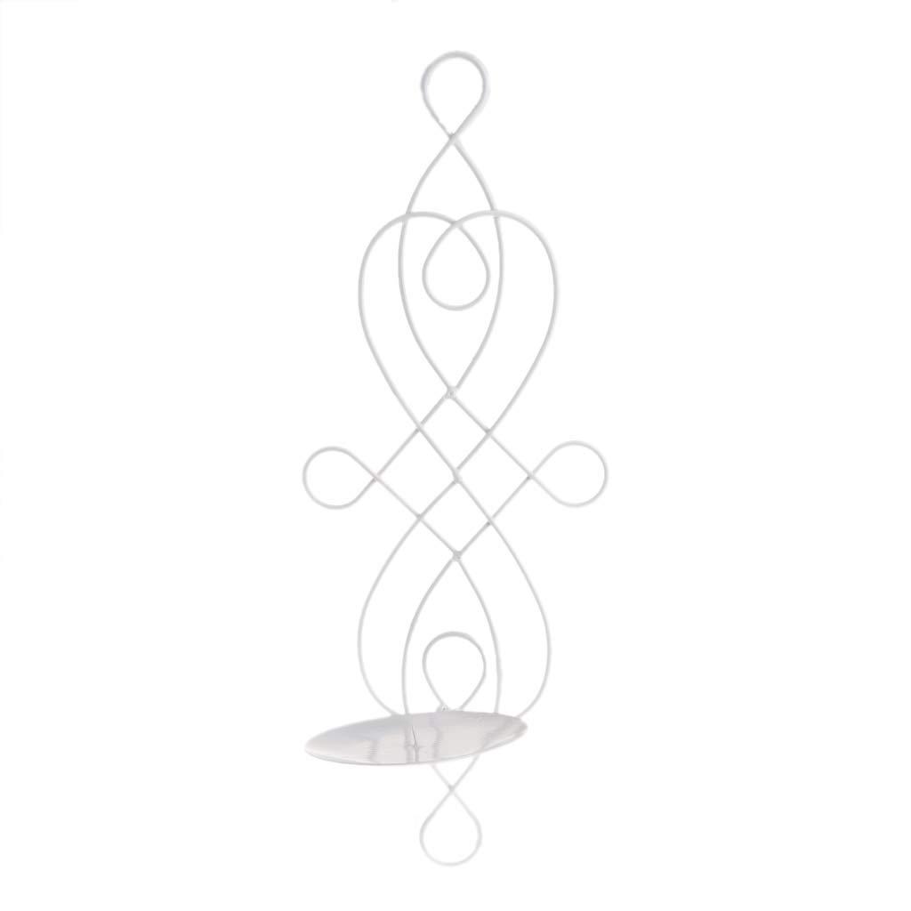 Candelabro De Hierro Met/álico Colgante Aplique de Pared Candelero Decoraci/ón para el Hogar Adornos JAGENIE Candelabro