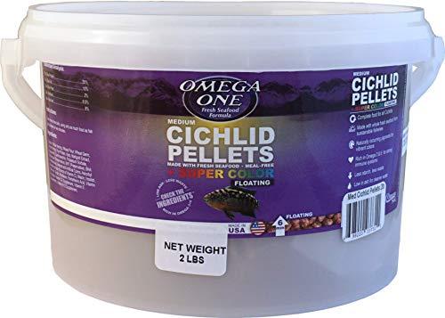 (Omega One Medium Floating Cichlid Pellets Fish Food 2-Lbs.)