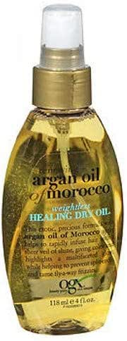 Ogx Moroccan Argan Oil Weightless Dry Oil 4 Ounce (118ml) (2 Pack)