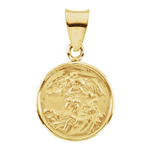 - 18k Yellow Gold St. Michael Medal (13 MM)