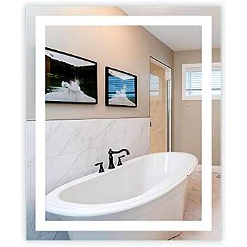 Amazon Com Led Front Lighted Bathroom Vanity Mirror 40