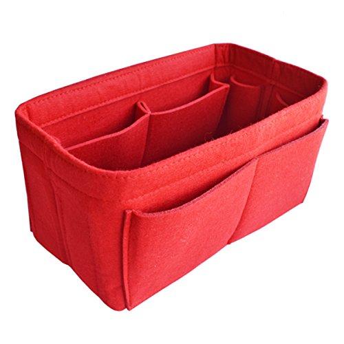 HyFanStr Bag in Bag Purse Organizer Felt Handbag Organizer, Multi Pockets Pouches Bag L (Speedy 30 Mini)