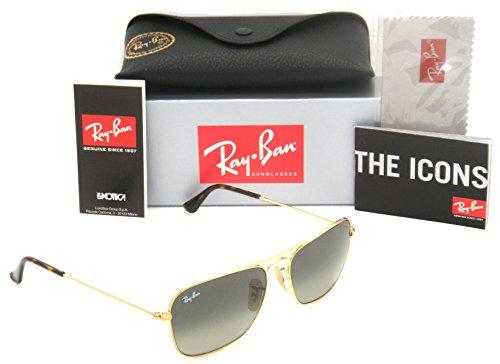 Ray-Ban Caravan Gold Frame / Grey Gradient RB 3136 181/71 55mm - Caravan Small Ban Ray