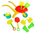 Beach Toy Deluxe Set - 10 pieces including Sand Wheelbarrow