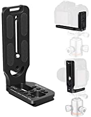 【Limited Edition】 GEEKOTO L-Shaped Quick Release Plate Aluminum Bracket for DSLR and MLC Adapt Tripod Head with 1/4 Screw and ARCA Standard Head (Black)