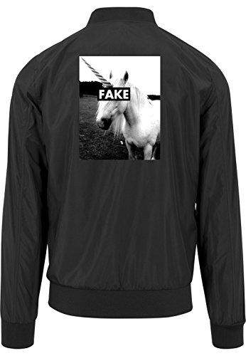 Fake Unicorn Bomberjacke Black Certified Freak