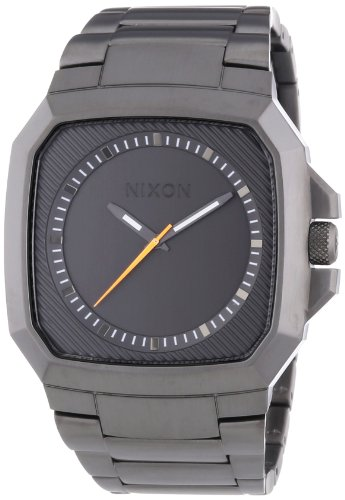 Plated Square Dial (Nixon The Deck Gunmetal Dial Gunmetal Ion-plated Mens Watch A308632)