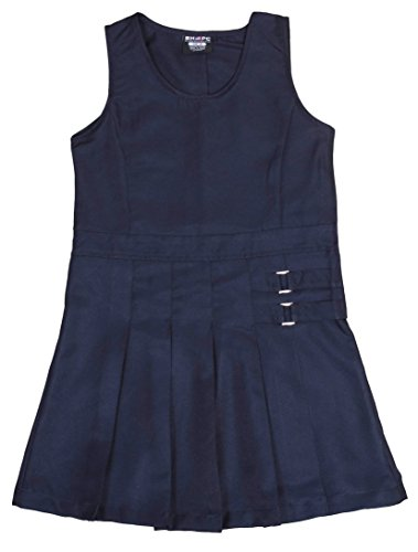 Navy Twill Club ('Beverly Hills Polo Club Girls School Uniform Pleated Twill V-Neck Jumper, Navy, Size 6X')