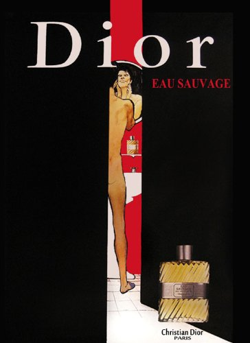 Canvas Naked Man Christian Dior Perfume Eau Sauvage Paris France French Vintage Poster Repro