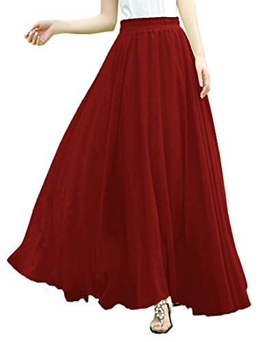 Red Long Skirt - 7