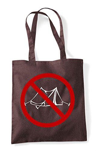 No Camping Brown Online Multiplayer Tote Gaming Bag Shopper Pvp Gamer Statement Parody Sign FFdrqwx7