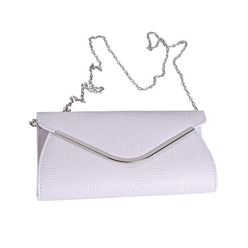 Womens Envelope Clutch Patent Croc Skin Embossed Fashion Shoulder Bags for Party ()