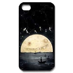 Moon Art Unique Design Hard Pattern Phone Case Cover For Iphone 4,4S Case TSL324633