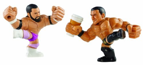 WWE Rumblers Slam City Damien Sandow and Alberto Del Rio with Coffee Cup Figure (2-Pack) by Mattel [parallel import goods] by Mattel