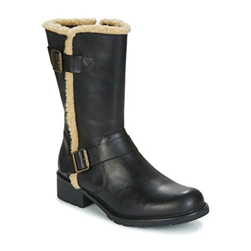 Clarks Détente Femme Boots/Bottes Orinoco Art en Cuir Noir Taille 35½