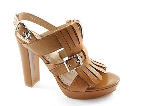 BP Zone Chaussures en Cuir F6004N Femme Frange Talons Sandales en Cuir Bracelet Marron PZY6FYaEu