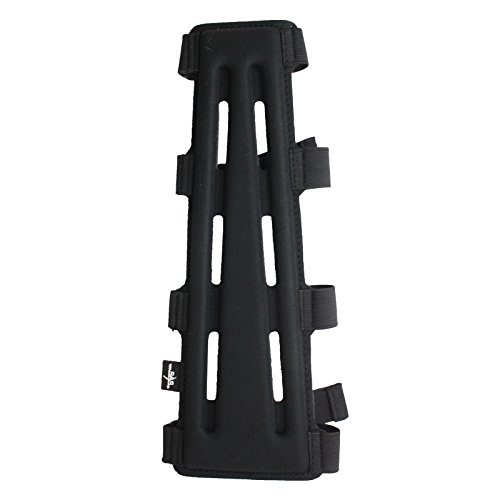 Southland Archery Supply SAS-12045 11.5″ Black Long Archery Armguard with 4-Strap Buckles