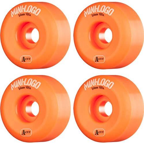 定規太陽聖書Miniロゴa-cutオレンジスケートボードホイール – 54 mm 101 a ( Set of 4 )