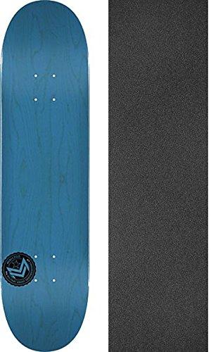 リーガン集団マイルストーンMini Logo Chevronスタンプブルー112 – スケートボードデッキ7.75 X 31.75 CMでMob Grip Perforated Griptape – 2アイテムのバンドル