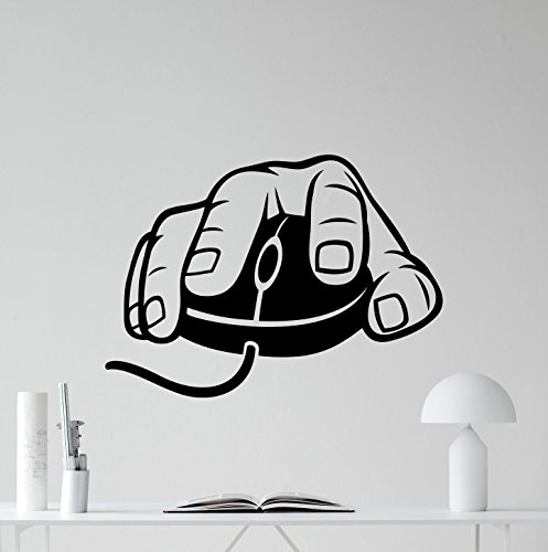 Computer Mouse Wall Decal Gaming Gamer Video Game Vinyl Sticker Kids Teen Room Wall Art Bedroom Decor