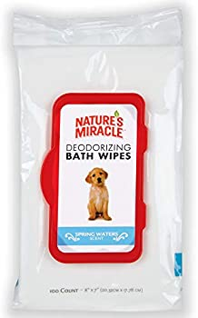 Natures 100-Count of Miracle Deodorizing Bath Wipes for Dogs